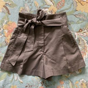 Wilfred Marne Shorts Taupe Linen Blend RARE COLOR